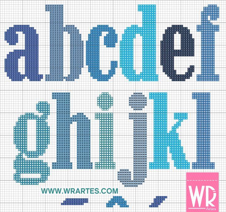 Alfabeto minúsculo especial para HOMENS
