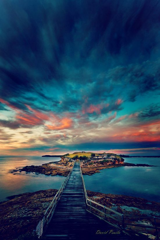 Bare Island Sunrise, New South Wales, Australia. travel images, travel photography