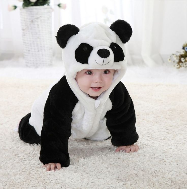 Free shipping Baby romper Panda jumpsuit Kids clothes newborn conjoined creeper cute Baby Costume dress outfit