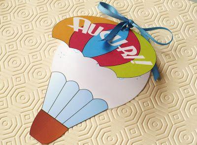 Eccomi oggi con una proposta per la festa del papà. Si tratta di un biglietto a forma di mongolfiera apribile dalla parte del pallone, che ...
