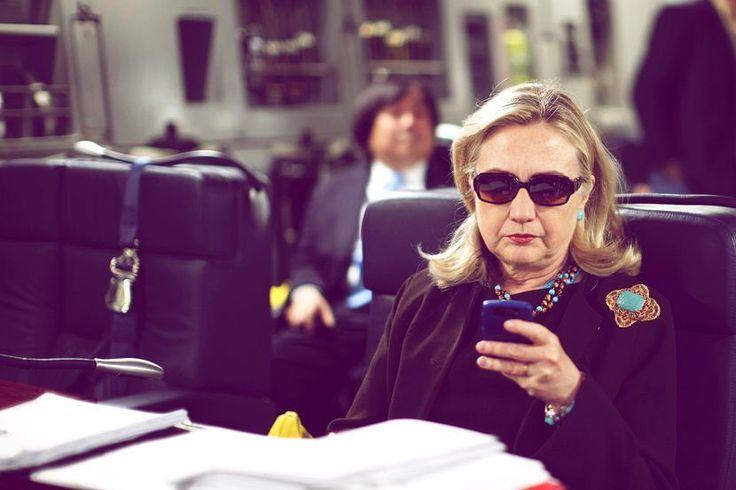 """Bill get the wine ready."" #debates #textsfromhillary"