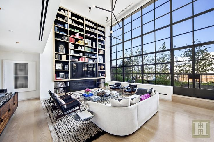 Charming Striking Penthouse Loft ... Enjoy Brilliant Light And Sweeping Panoramas  From Endless Steel Casement Windows In This Stunning 3BR/3.5 Bath Duplex  Penthouse ... Nice Design