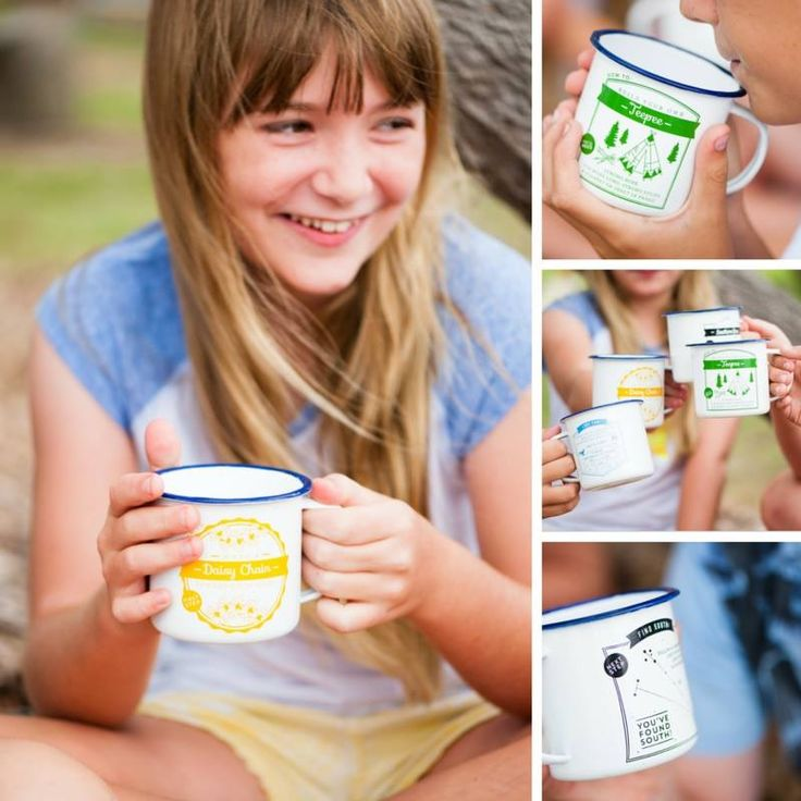 At our recent photo shoot the kids enjoyed reading their 'how to' camping mugs to each other.