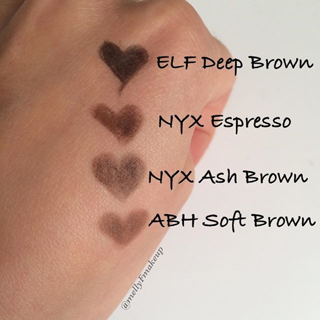 Elf Instant Lift Brow Pencil In Deep Brown Nyx Micro Brow