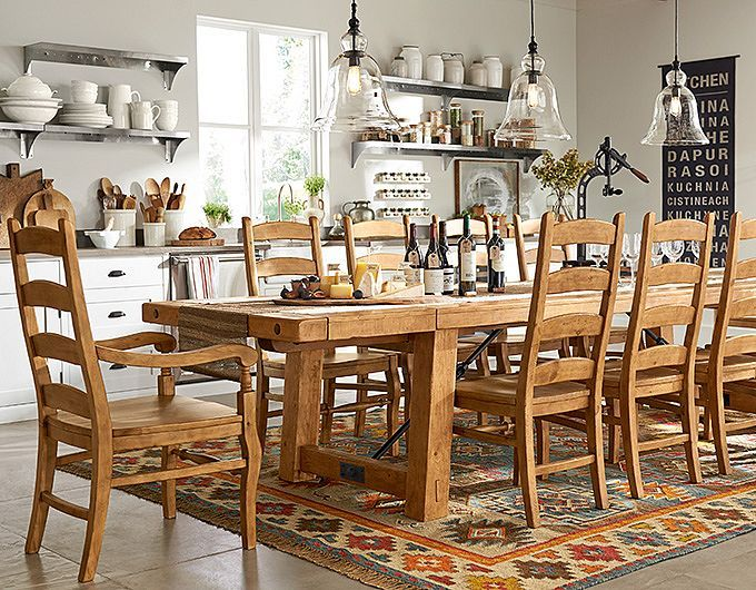 Pottery Barn Rustic Dining Room