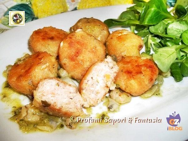 Polpettine di salmone al forno in salsa di porri Blog Profumi Sapori & Fantasia