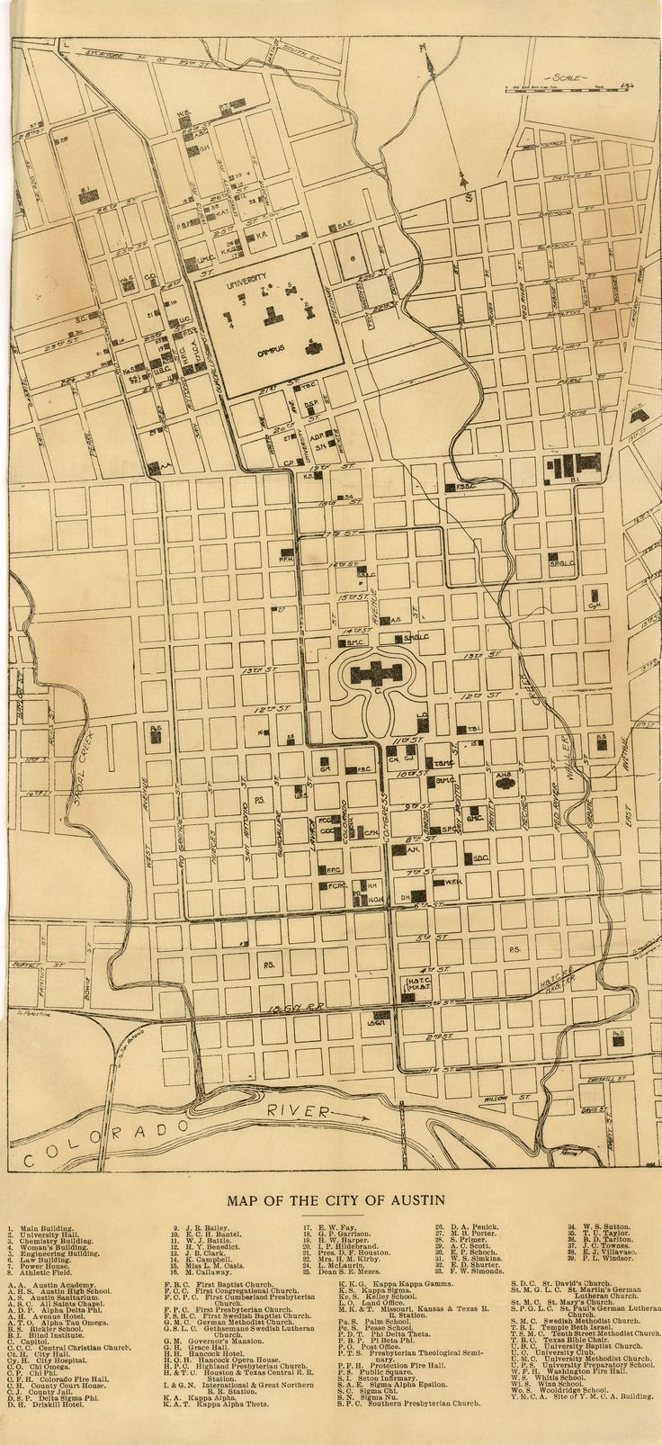 Ever wonder what UT has looked like in the past? PCL's online Map Collection has digital maps of the UT campus from 1900! (http://www.lib.utexas.edu/maps/ut_austin_historical_maps.html)