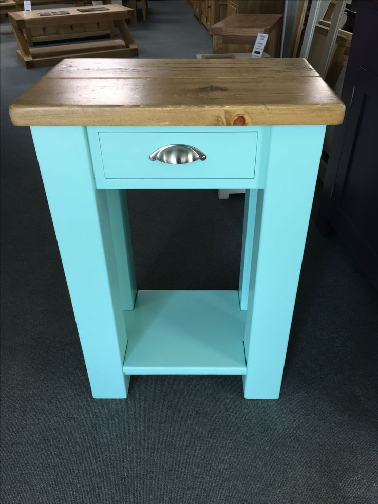 Kitchen Furniture Company: Small Kitchen Island Unit Painted In Peppermint With A