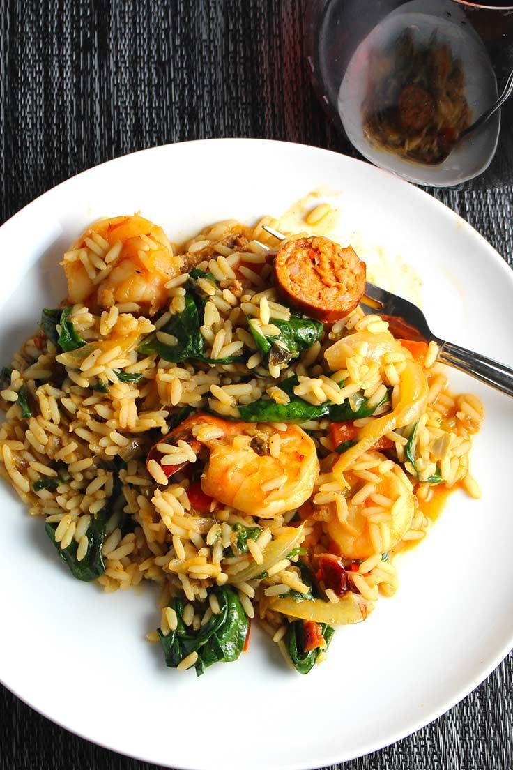 Turkey Sausage and Shrimp Jambalaya has so much great New Orleans flavor!