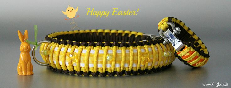 KingLuy Paracord Halsband Happy Easter 2014