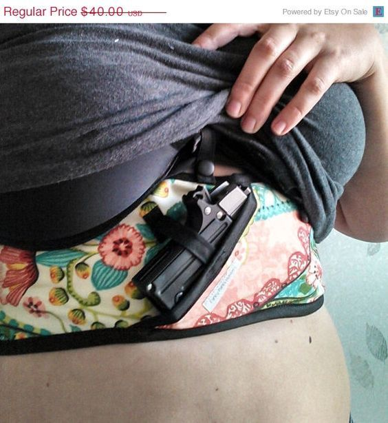 Stylish concealed carry option for women. Fancy pants holsters www.etsy.com/…