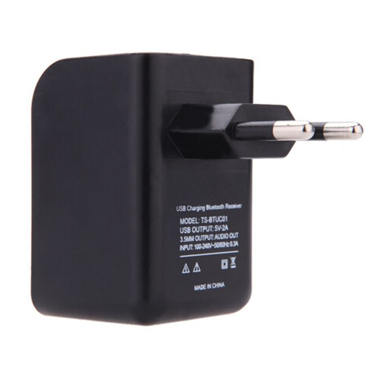New Mini 3.5mm Bluetooth Audio Music Receiver Adapter with USB EU Wall Charger  #Affiliate