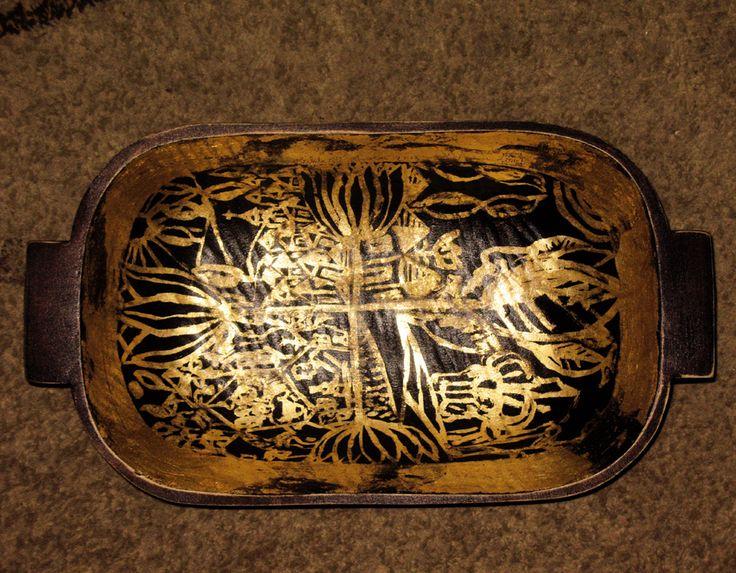 vas de lemn decorat.schlagmetal