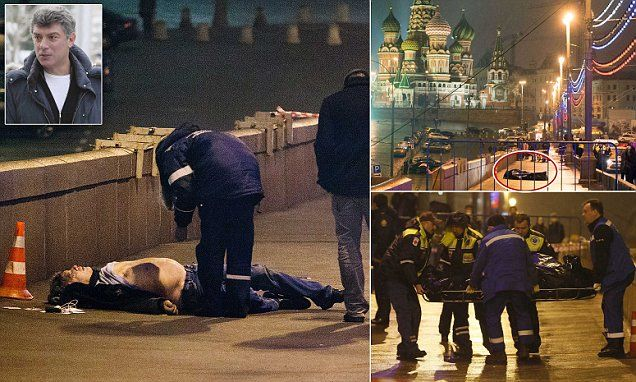 Russian opposition politician Boris Nemtsov is shot dead on Moscow street a day before first major anti-Putin protest in months.  Nemtsov, 55, was one of Vladimir Putin's fiercest critics.  He was shot four times...