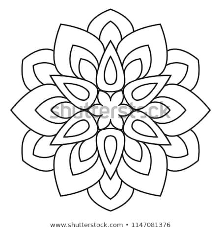 Easy Mandala Basic Simple Mandalas Coloring Stock