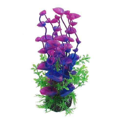 Jardin Landscaping Water Plant Decoration For Aquarium, 8.3 Inch,  Purple/Green Jardin