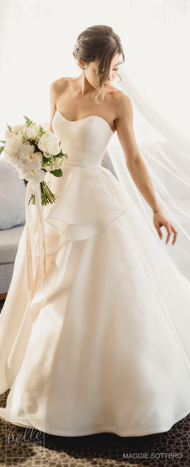 Simple Wedding Dress by Maggie Sottero #weddingdress #bridalgown #weddings #bridal