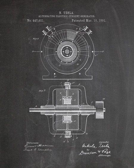 Tesla Generator Patent Print