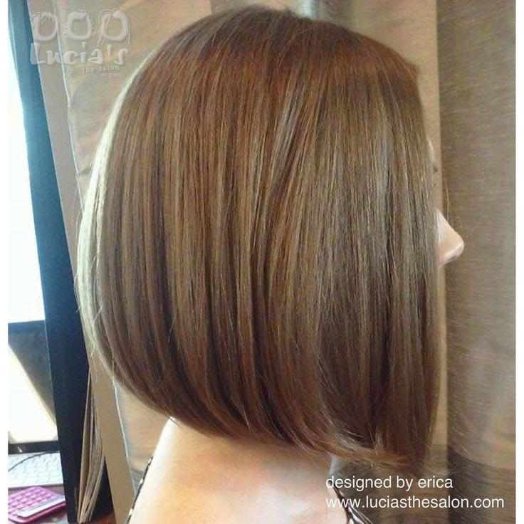 Designed by Erica at Lucia's...the salon on main www.luciasthesalon.com 214 N. Main Street Hudson, OH 44236 #haircut #redken #redkenobsessed #angledbob #btcpics #short #hair