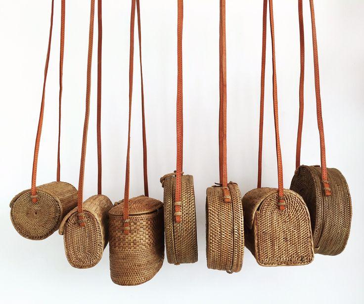 Lusting over this beautiful range of rattan basket bags.
