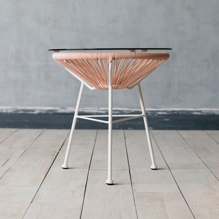 White Tripod Style Legs Envelope The Plastic String Support That Holds The Glass  Table Top, A Welcoming Surface For A ...