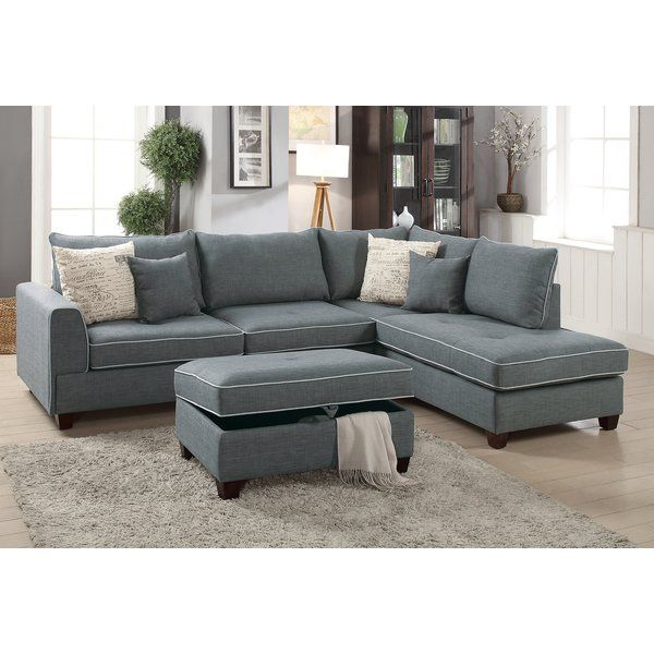 Malta Reversible Sectional With Ottoman Furniture Sectional