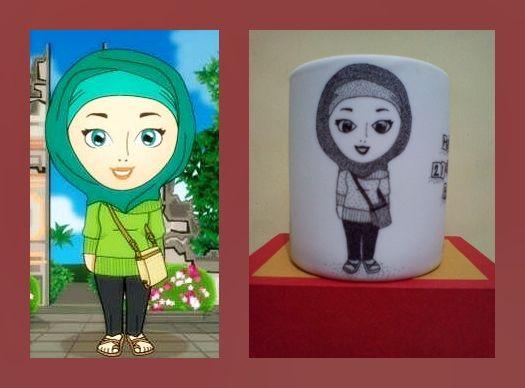 pointilis painting mug ~karikatur~