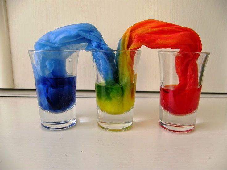 naše domácí Montessori: Pokus - míchání barev
