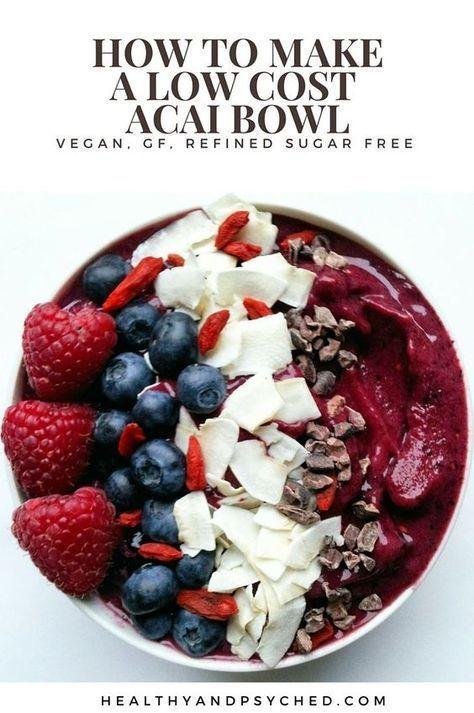 .Vegane Smoothie-Schüssel | Acai Bowl Rezept | Einfache Smoothie-Schüssel | Veganer Smoothie …   – Pretty