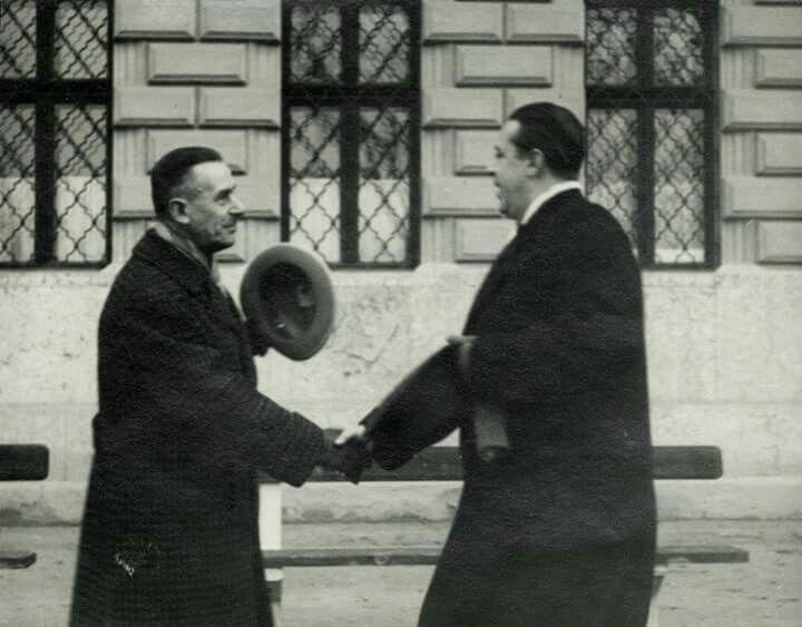 1935. Thomas Mann és Márai Sándor, Budapest,