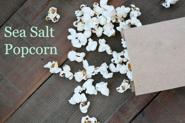 Sea Salt Popcorn - Part of the 10 Dollar Food Day from Cheap Recipe Blog    A big bowl of popcorn costs just 23 cents!