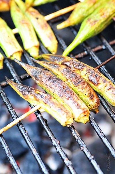 "Grilled Okra has to be one of the simplest, yet most fabulous vegetables known to man.   Seriously. So amazingly easy to prepare and yet folks just can't get enough of it. They'll ask, ""are you sure this is okra? Because, I don't really like okra."" To which comes the reply, ""yes, this is okra. It"