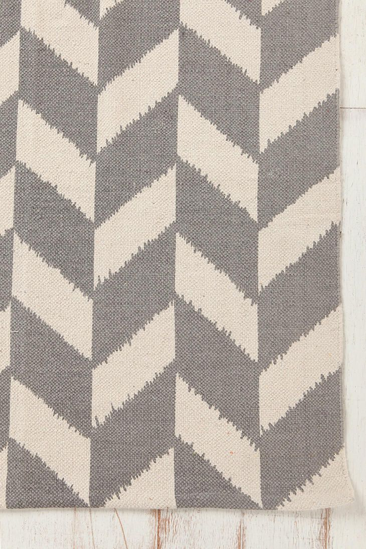 Gray Foyer Rug : Assembly home herringbone printed rug urban outfitters