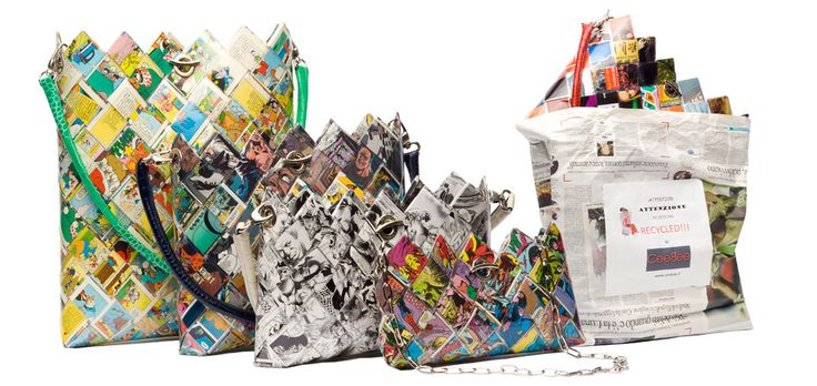 Bags and Purses of Paper Collection