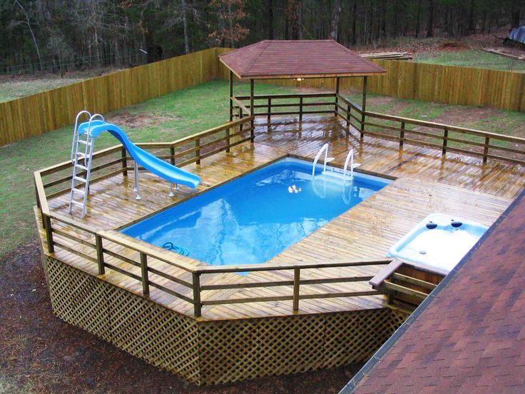 pool decking for above ground pool - Google Search
