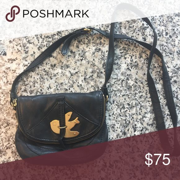 Marc Jacobs purse Small over the shoulder black leather bag with gold hardware Marc Jacobs Bags Crossbody Bags