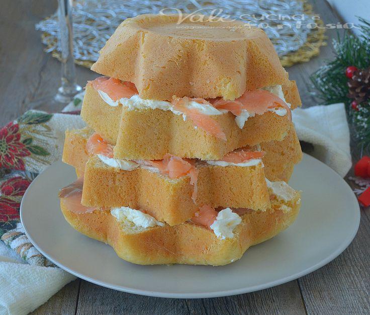 Pandoro+gastronomico+al+salmone+e+formaggio