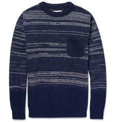 Oliver SpencerKnitted Cotton Crew Neck Sweater