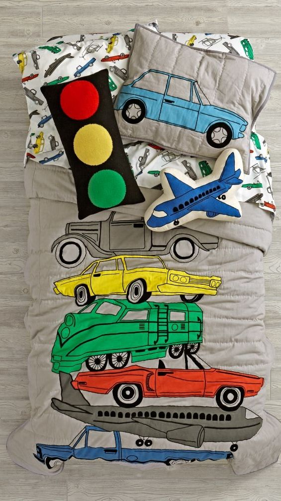 Shop Transportation Bedding and Quilt. Being stuck in traffic has never been more comfortable, thanks to this exclusive transportation bedding. Available in twin, full or queen. Order online.