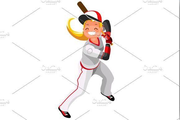 Baseball Vector Girl Mascot Vector Wallpaper Baseball Vector Baseball Vector Mascot Baseball