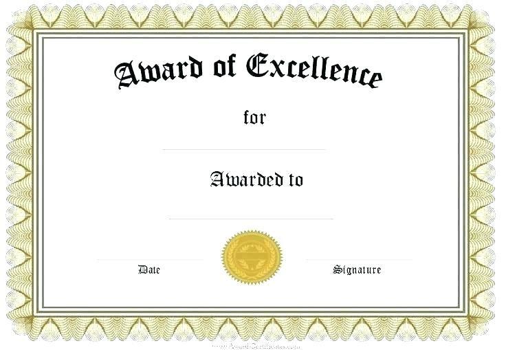 Mock Certificate Template (5