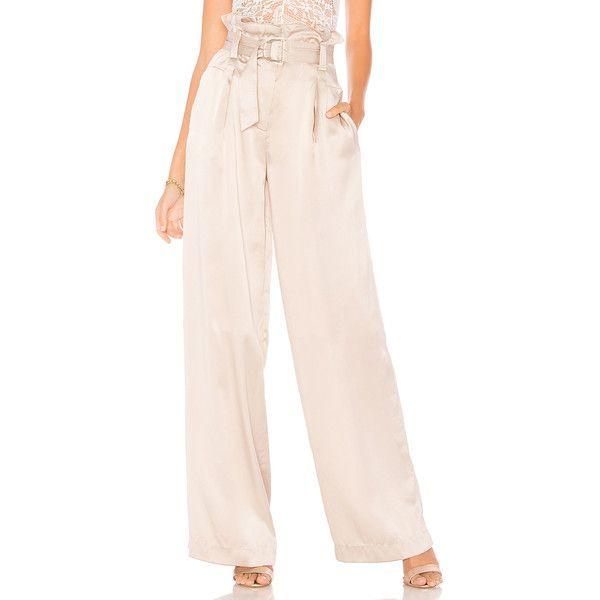 a007619de6b152 LAMARQUE Vika Silk Wide Leg Pant ($305) ❤ liked on Polyvore featuring pants,  silk pants, zipper pants, wide-leg trousers, pink wide leg trousers and  silk ...
