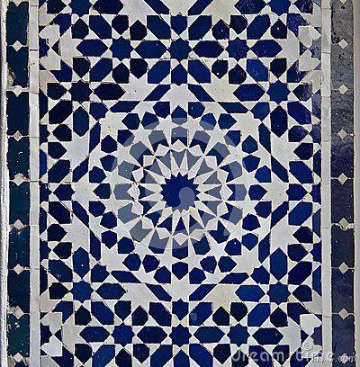 Modèle de tuile de Zellige de Marocain