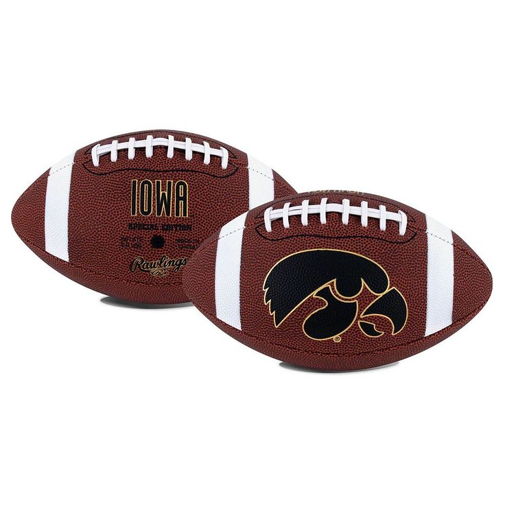 Rawlings Iowa Hawkeyes Game Time Football, Black
