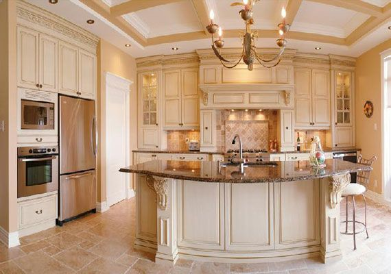 Painted kitchen cabinet ideas images gallery related for Kitchen paint ideas with cream cabinets