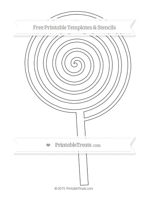 Free Printable Extra Large Swirly Lollipop Template