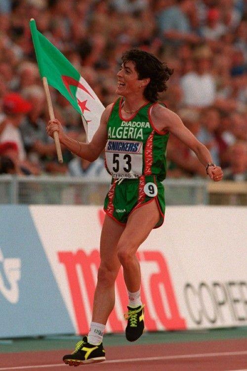 algerianfans:  Championne du 1500 M Hassiba Boulmerka…Jeux Olympics de Barcelone 1992