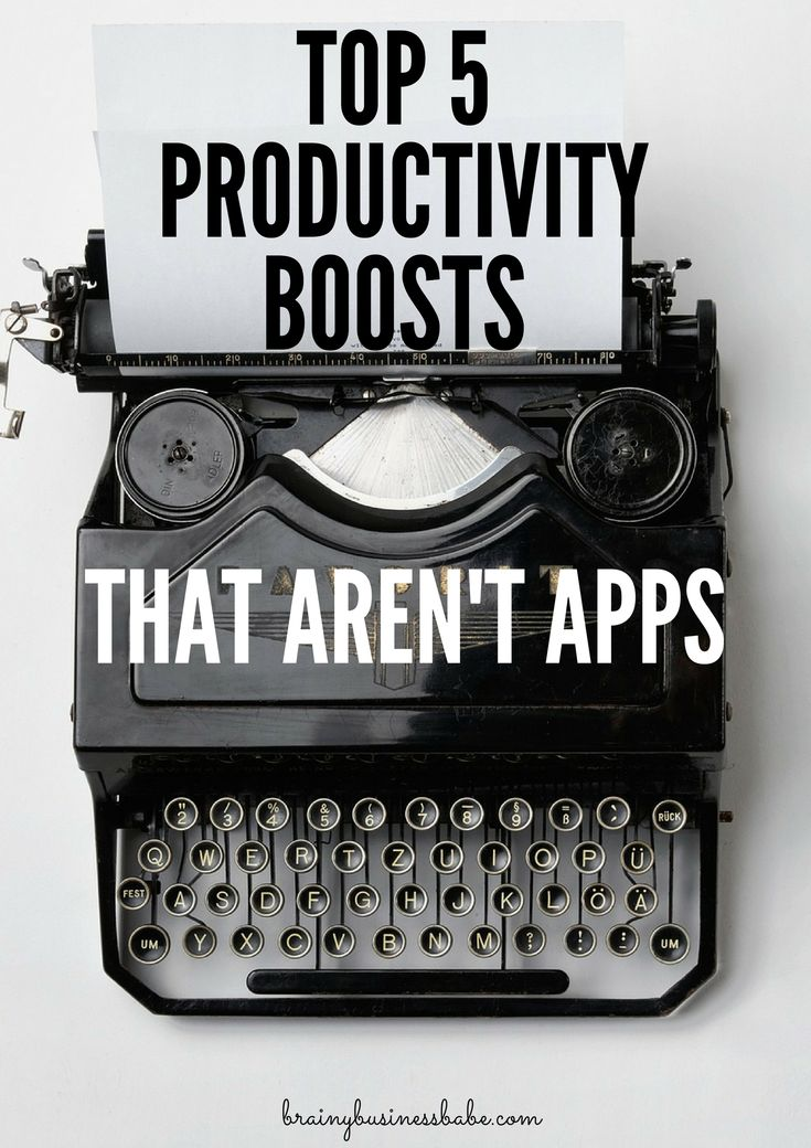 Top Five Productivity Boosts That Aren't Apps: Put down your phone and get cracking! You know I love a good app to boost productivity. But sometimes, my digital devices seem to be more distracting than I'd like. When that happens, I turn …