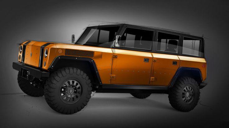 Bollinger Motors teases four-door B1 electric truck –in orange - Autoblog