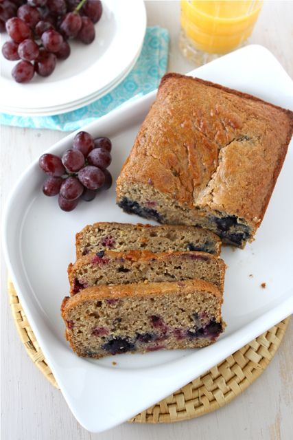 Lemon, Yogurt, Berry & Ginger Whole Wheat Quick Bread by cookincanuck ...